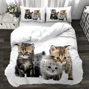 Mačići 3D Dečija Posteljina